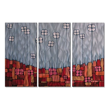 All My Walls 'Receptacles' by Lili Vanderlaan 3 Piece Graphic Art Plaque Set