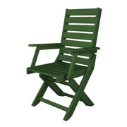 POLYWOOD  Captain Dining Arm Chair; Hunter Green