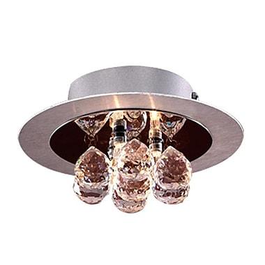 PLC Lighting Bolero 3-Light Semi Flush Mount