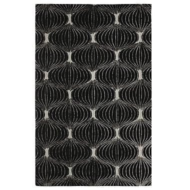 Dynamic Rugs Allure Allurerary Black/Silver Area Rug; Rectangle 5' x 8'