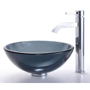 Kraus Circular Vessel Bathroom Sink; Chrome