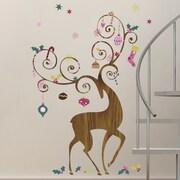 Room Mates Seasonal 46 Piece Ornamental Reindeer Wall Decal