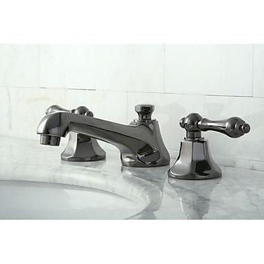 Kingston Brass Water Onyx Double Handle Widespread Bathroom Faucet w/ Brass Pop-Up Drain