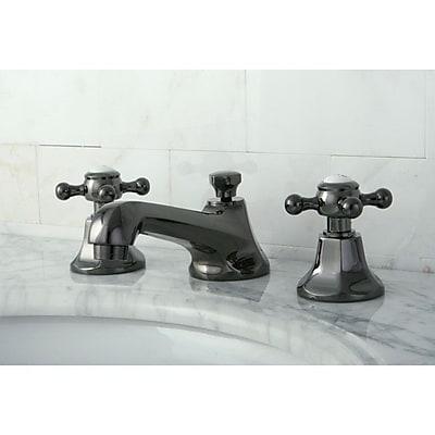 Kingston Brass Water Onyx Widespread Bathroom Faucet w/ Brass Pop-Up Drain