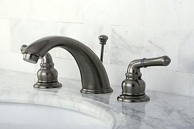 Kingston Brass Magellan Widespread Bathroom Faucet w/ ABS Pop-Up Drain; Vintage Nickel