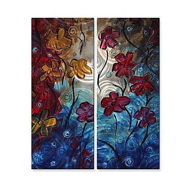All My Walls 'Bold Statement' by Danlye Jones 2 Piece Painting Print Plaque Set