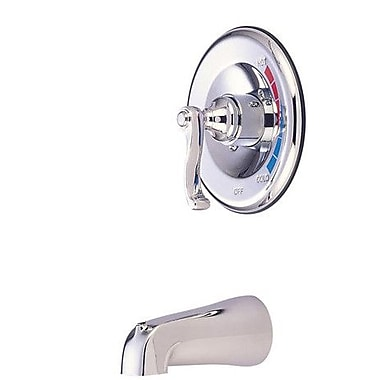 Elements of Design Atlanta Single Handle Wall Mount Tub Only Faucet French Lever Handle; Chrome