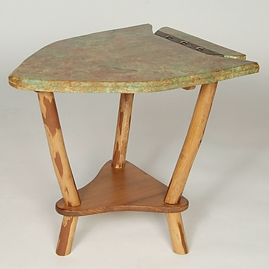 Flat Rock Furniture Dovetail Point End Table; Verde