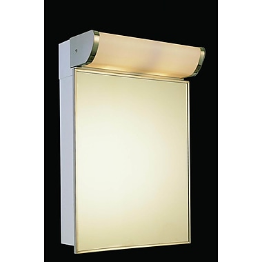 Ketcham Medicine Cabinets Deluxe Series 16'' x 33.25'' Surface Mount Medicine Cabinet w/ Lighting