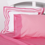 One Grace Place Simplicity Flanged Sham; Hot Pink