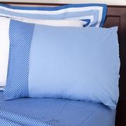 One Grace Place Simplicity Pillowcase; Blue