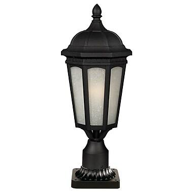 Z-Lite Newport Outdoor 1-Light Pier Mount Light; Black