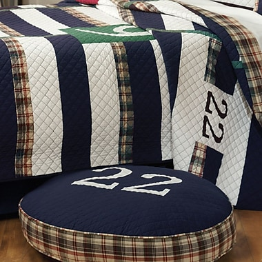 Greenland Home Fashions Rugby Cotton Throw Pillow