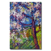 All My Walls 'Spring Cascade' by Irina Ashcroft Painting Print Plaque