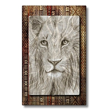 All My Walls 'African Lion' by Holly Carmichael Painting Print Plaque