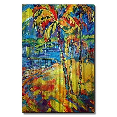 All My Walls 'Tropical Splash' by Irina Ashcroft Painting Print Plaque