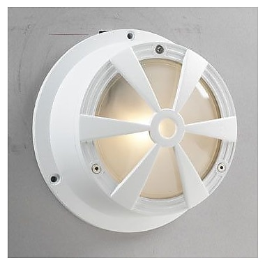 PLC Lighting Sunray 1-Light Flush Mount; White