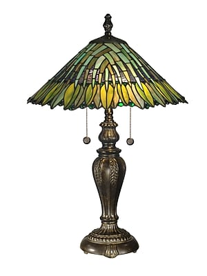 Dale Tiffany Floral Leavesley 24'' Table Lamp