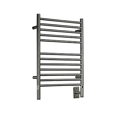 Amba Jeeves Wall Mount Electric E Straight Towel Warmer; Brushed