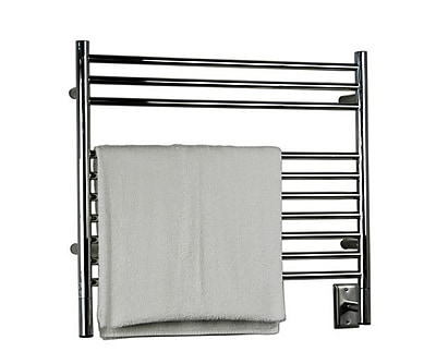Amba Jeeves Wall Mount Electric K Straight Towel Warmer; Brushed