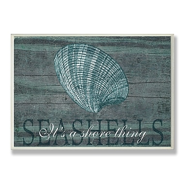Stupell Industries Seashell ''It's A Shore Thing'' Textual Art Wall Plaque