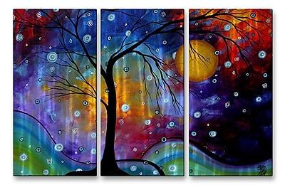 All My Walls 'Winter Sparkle' by Megan Duncanson 3 Piece Graphic Art Plaque Set