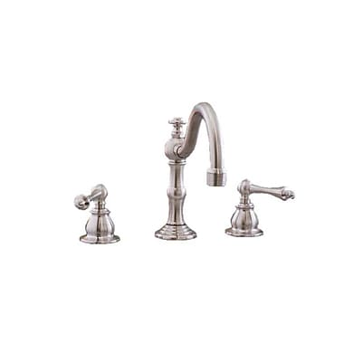 Strom Plumbing by Sign of the Crab Double Handle Widespread Bathroom Faucet; Matte Nickel