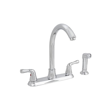 Premier Faucet Sanibel Two Handle Centerset Kitchen Faucet w/ Matching Spray; Chrome