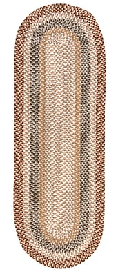 Colonial Mills Fabric Multi Natural Area Rug; Runner 2' x 10'