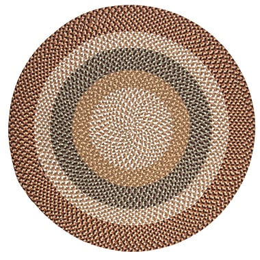 Colonial Mills Fabric Multi Natural Area Rug; Round 5'