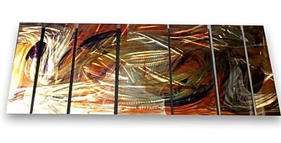 All My Walls 'Holographic' by Ash Carl Designs 7 Piece Graphic Art Plaque Set