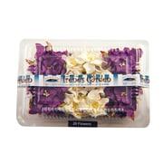 Alvin and Co. Irene's Garden O'Gardenia Flower Box (Set of 20); Purple / White
