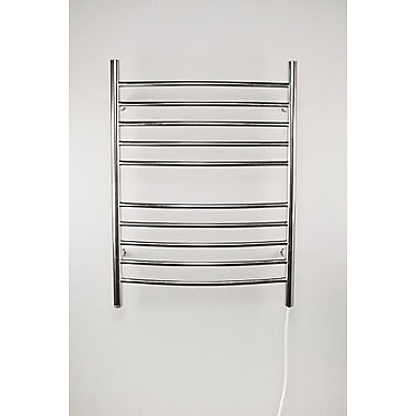 Amba Wall Mount Electric Radiator; Brushed