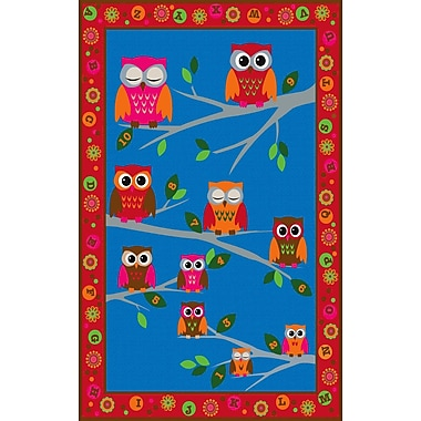 Kid Carpet Hoot Hoot Owl Childrens Area Rug; Rectangle 7'6'' x 12'