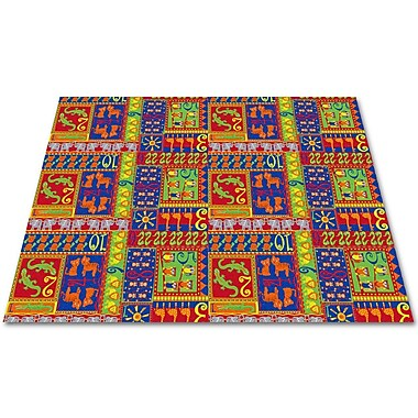 Kid Carpet Counting Animals Kids Rug; Rectangle 12' x 18'