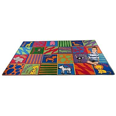 Kid Carpet Animal Squares Area Rug; 7'6'' x 12'