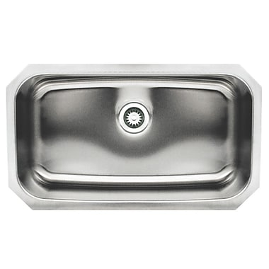 Whitehaus Collection Noah 30.5'' x 18.25'' Single Bowl Undermount Kitchen Sink
