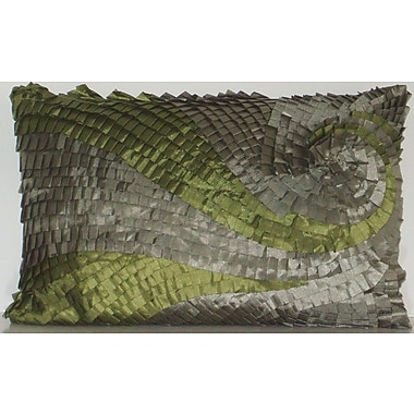 Edie Inc. Ombre Pleated Swirl Lumbar Pillow