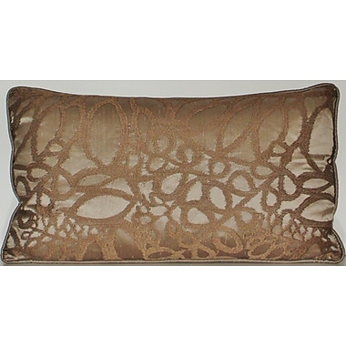 Edie Inc. Silk Embroidered Leaf Lumbar Pillow