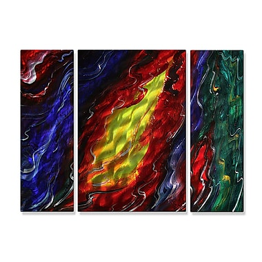 All My Walls 'River of Dreams' by Megan Duncanson 3 Piece Graphic Art Plaque Set