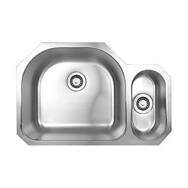 Whitehaus Collection Noah's 31.5'' x 20.88'' Chefhaus Double Bowl Undermount Kitchen Sink