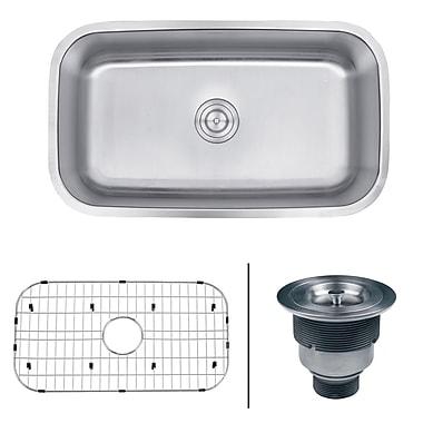 Ruvati Parmi 31.5'' x 18.25'' Undermount Single Bowl Kitchen Sink