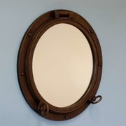 Handcrafted Nautical Decor Porthole Mirror; Bronze