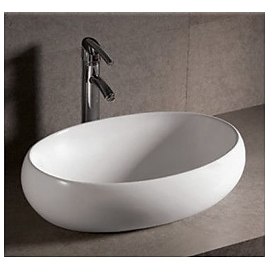 Whitehaus Collection Isabella Oval Vessel Bathroom Sink