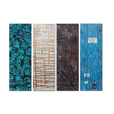 All My Walls 'Elements 7' by Hilary Winfield 4 Piece Graphic Art Plaque Set