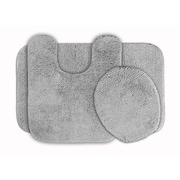 Garland Rug Glamour 3 Piece Bath Rug Set; Platinum Gray