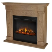 Real Flame Slim Lowry Wall Mount Electric Fireplace; Blonde Oak