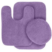 Garland Rug Cabernet Bath Rug (Set of 3); Purple