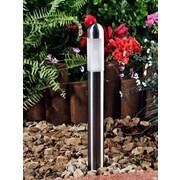 Dabmar Lighting 1-Light Bollard Light; Stainless Steel