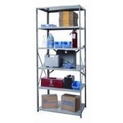 Hallowell Hi-Tech Shelving Duty Open Type 5 Shelf Shelving Unit Starter; 87'' H x 36'' W x 24'' D